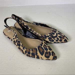 BP Leopard Suede Slip On Flats